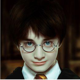 Wholesale Vintage Optic Glass - Nerd Vintage Round Glasses Men Women Metal Frame With Clear Lens Transparent Harry Potter Eyewear Retro Female Optics Eyeglasses