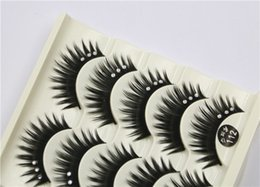 Wholesale Hair Hands Diamonds - 112 5Pair Women Makeup Beauty Thick 3D False Eyelashes popular messy nature Eyelash Long Diamond Handmade lashes Extension