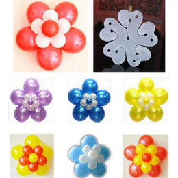 Wholesale Flowers Balloon - Balloons Modelling Clip for Party Decorations Double Flower Balloon Clips Latex Helium Balloon Accessories Sealing Clip