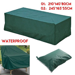 Wholesale Patio Garden Table - Wholesale- High Quality 2 Different Size Rect BBQ Outdoor Garden Patio Table Desk Chair Furniture Cover Waterproof