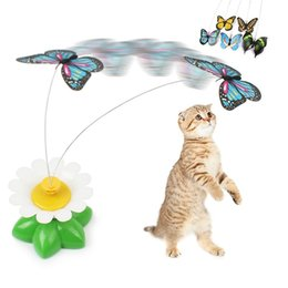 Wholesale Wholesale Pet Bird Toys - Cat Toys Electric Rotating Colorful Butterfly Bird Funny Pet Seat Scratch Toy For Cats Kitten wa3991