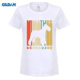 Wholesale Miniature Shorts - Vintage Style Miniature Schnauzer Silhouette T-Shirt Summer Funny Cotton Hipster Tees Harajuku Brand Wholesale Girl T Shirt