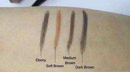 Wholesale Soft Eyebrow Pencil - Best Eyebrow Enhancers 4colors available: Soft Brown Medium Brown Dark Brown Ebony Skinny Brow Pencil