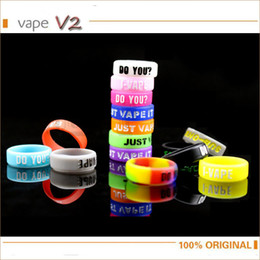 Wholesale mechanical finger ring - Wholesale- 5pcs lot Anti-slip Ring Silicon Finger Ring Colorful Vape Band Covering Rubber Ring For Electronic Cigarette RDA Mechanical Mod