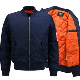 Wholesale air winter jackets - 7XL 8XL Bomber Men Jackets Air Force One Pilot Cotton Coat Military Fashion Jacket Big Size Autumn Winter 5XL 6XL Hot Sale