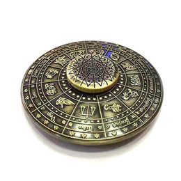 Wholesale Metal Ufo Toy - Rainbow Egyptian Zodiac UFO Hand Spinner Constellation Flying Saucer Fidget Spinner EDC Decompression Anti-anxiety Finger Gyro Toys