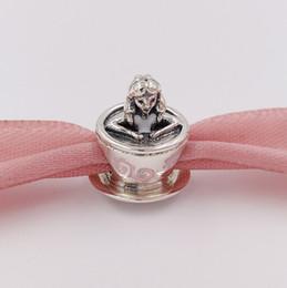 Wholesale wonderland necklace - 925 Sterling Silver Beads Alice In Wonderland Teacup Fantasyland Charm Charms Fits European Pandora Style Jewelry Bracelets Necklace