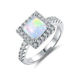 Wholesale Opal Earrings Rings - Fashion jewelry new 925 silver Opal Couple ring Fit Pandora female crystal from Swarovski rings
