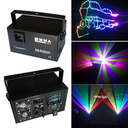 Wholesale Projector Disco - 2w RGB animation analog modulation laser light show  DMX,ILDA laser disco light  stage laser projector