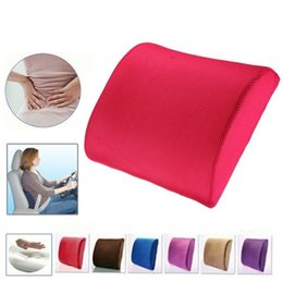 Wholesale Back Chair For Car Seat - Memory Foam Seat Chair Lumbar Back Support Cushion Pillow For Office Home Car