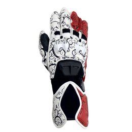 Wholesale Long Black Motorcycle Gloves - Motorcycle Gloves GP PRO Men Long Full Finger Leather Glove Motocross Long Cycling Racing Moto Motorbike Luvas Guantes