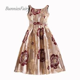 0399676bcd royal night dresses UK - Wholesale- BunniesFairy 2016 Autumn New Royal  Vintage Audrey Hepburn Style