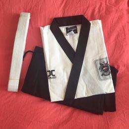 Wholesale Martial Arts Material - New JCALICU Male Taekwondo Poomsae clothes TKD materials taekwondo dobok for have Dan persons Adults karate WTF standards