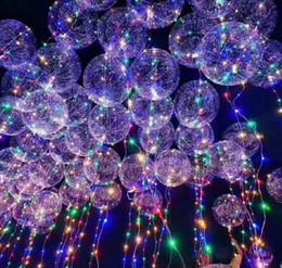 Regalo de navidad Luminoso Led Transparente 3 Metros Globo Intermitente Decoraciones Del Banquete de Boda Suministros de Vacaciones Globos de Colores Leds Brillantes desde fabricantes
