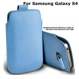 Wholesale s4 sleeve - 13 Colors PU Leather Sleeve Bag Pull Tab Pouch Case Cover For Samsung Galaxy S4 I9500 new arrival