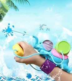 Wholesale Mini Toys Gun - Summer Hot Water Toys for Children Wrist Sprinkler a Range of About 8 Meters ABS Environmental Protection Plastic Material Elephant Pistol