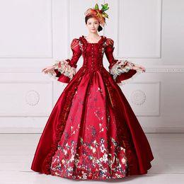 Бальные платья венеция онлайн-красный пузырь Венеция карнавал королева бальное платье Принцесса средневековое платье Ренессанс платье Виктория/Антуанетта/бальное платье/Belle Ball