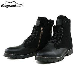 Wholesale Leather Riding Boots Men - Wholesale-Men Casual Ankle Boot Shoes Fashion Winter Warm Riding Equestrain Boots Round Toe Leather High Quality Shoes XMX254