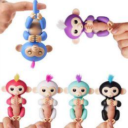 Wholesale Little Children Hot - Hot Sale 6 color Finger monkey Fingerlings Pet Electronic Little Baby Monkey Children Kids Toy Christmas Gift