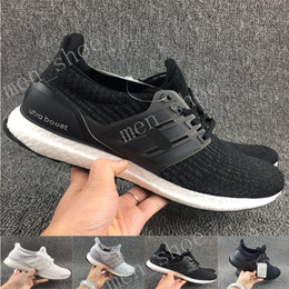 Wholesale 2017 fashion Ultra Boost Core Black real boost Men and women Casual Shoes with double box paper bags and receipts ultraboost ronnie fieg