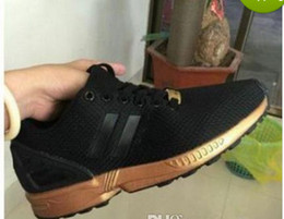 Wholesale Shoes Zx - 2017 NEW ARRIVE men women sports casual shoes black gold zx flux eur 36-44 free shipping high quality