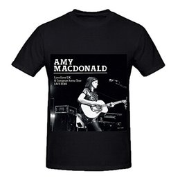 Wholesale Uk T Shirt Printing - New 2017 Summer Style T-Shirt Amy Macdonald Love Love Uk European Tour Live 2010 Soul Men Cotton Tee Shirts