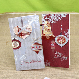 Wholesale Invitation Sets - 6Pc  Set 3D Merry Christmas Card Greeting Card With Envelope Blank Greeting Card Kids Gift Postcard Eve Party Invitations