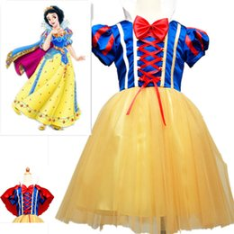 Wholesale Snow White Cartoon Character Costume - Snow White Princess Dress Girls Cosplay Costume Sofia Stage Party Lace Dress With Cloak Children Halloween Cartoon Christmas Clothing PX-A19