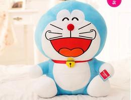 Wholesale Doraemon Cloth - 50cm 65cm Big Mouth Laugh Face Grin Doraemon Cat Plush Toy Stuffed Animal Doll Kids Child Japanese Cartoon Movie Good Quality