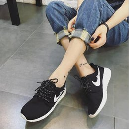 Wholesale Korean Women Sneakers - 2017 spring and summer men's &women casual shoes breathable mesh shoes, running shoes Korean teen fashion sneakers size36-44 yards