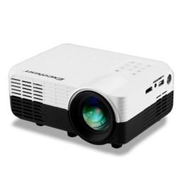 Wholesale Av Input Tv - Wholesale-Excelvan LED2018 Portable Home Proyector 640*480 1200Lumens LCD LED Projector With HDMI USB AV input VGA TV DVB-T2 SD card Input