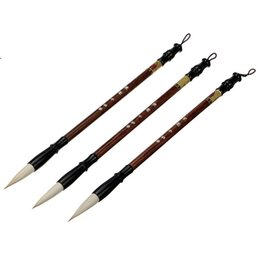 chinese writing pen UK - 3pcs set Top Quality Chinese Calligraphy Brushes Pen for Woolen and Weasel Hair Writing Brush Fit For Student School