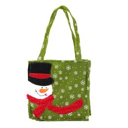 Wholesale Craft Xmas Decorations - Wholesale- Fashion Style Christmas Decorations For home Enfeites De Natal Snowman Candy Gift Bags Xmas Craft Supplies 2016 Gift 1pc