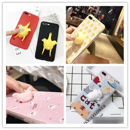 Wholesale cell Phone Cases for iPhone S Plus Funny soft release stress D Screaming Chicken lays egg pattern Squeeze Vent phone covers