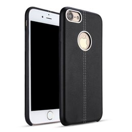 Wholesale Galaxy Note Real Leather Case - Business Luxury Soft PU Real Leather Genuine Mobile Phone Case For iPhone 6s 7 6Plus 7Plus Samsung Galaxy S8 S8+ A7(2017) A9 Note 3 J7 Prime