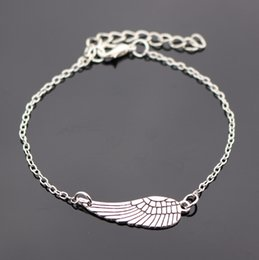 Wholesale New Directions Wholesaler - Wholesale- Bijoux New 2016 Love Vintage Silver Plated Wing Bracelet Bangle For Women Charm Jewelry Girl Gift One Direction Wholesale L182