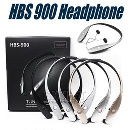 Wholesale Iphone Color Silver - HBS900 Bluetooth Headphones HBS 900 Wireless Sport Neckband Headset Headphones Bluetooth Stereo Earphone For Iphone X 8 With Retail Package