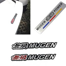 Wholesale Honda Crv Chrome - 3D Aluminum Mugen Emblem Chrome Logo Rear Badge Car Trunk Sticker Car-Styling for Honda Civic Accord CRV Fit