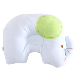 Wholesale Elephant Bedding Sets - Cartoon Elephant Newborn Infant Memory Foam Pillow Kid Neck Protection Baby Care Bedding Set Concave Massage Sleeping Pillow