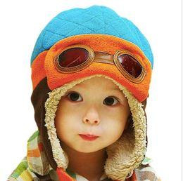 freddi i ragazzi dei cappelli invernali Sconti Toddlers Cool Baby Boy Girl Bambini Neonati Inverno Pilot Warm Cap Bomber Hat Head ciucumtance da 47-52cm 4 anni 90g