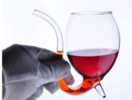 Wholesale Folk Art Shop - White Wine Glass Vampire Devil Wine Glass With Tube Straw Xmas creative fashion Simple design style 9 styles free shopping !