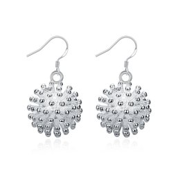 Wholesale Earring Fireworks - 925 Silver Fireworks Earrings Three-dimensional Dandelion Hollow Cute Girl Fashion Wild Earrings Silver-plated Anti-allergy Female Earrings