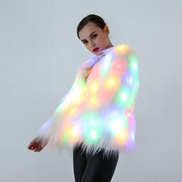 Argentina 2016 trajes de etapa de la capa de piel del LED traje femenino LED más tamaño 3XL discoteca de Navidad outwear mujeres bailarinas Star Chaquetas Suministro