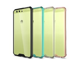 Wholesale Honor Cases - TPU Clear Frame Case for Huawei Ascend P10 P10 Plus  Mate 9  P8 Lite 2017  Honor 5X  P9 Hybrid Bumper Shockproof Back Cover