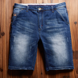 Wholesale Denim Shorts 38 - Wholesale- new arrival Denim shorts Youth Relaxed Summer thin men winter jeans male tide loose straight plus size 36 38 40 42 44 46 48