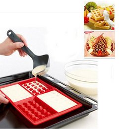 Wholesale Wholesale Baking Supplies Silicone - Microwave Baking Cookie Mold Cake Muffin Bakeware Cooking Tools Kitchen Accessories Supplies Pan Family Silicone Waffle