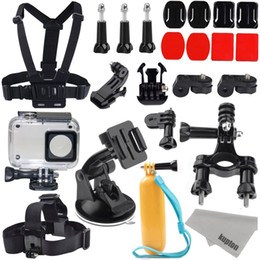 bike materials Promo Codes - Wholesale- Xiaomi Yi 2 4K Accessories Kit, 4K II Waterproof Housing Case+ Head chest Strap+ Car Suction Cup+ 3 M Bike Mount+floaty bobber