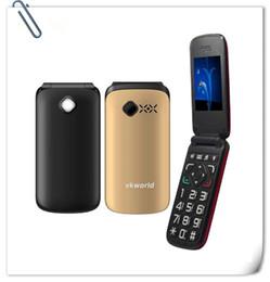 Wholesale Wholesale Black Diamond Screen - flip mobile phone VKworld Diamond Z2 2.4 inch Large Button Dual SIM 0.3MP Camera FM Torch 800mAh Mini Phone