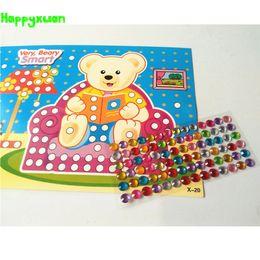 Wholesale Early Crystals - Happyxuan 12pcs lot 13*17.8cm DIY Crystal Mosaic Diamond Art Stickers Handmade Crafts Kindergaten Early Education Learning Toys