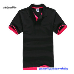Wholesale Blank Cotton Short Sleeve Shirt - Men Top Polos Solid Blank polo shirts Adult Casual POLO shirts Euro Big Size Short Sleeve Unisex T-shirts polo ralp shirts Fit Men and Women